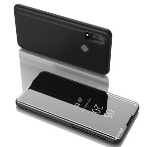 Θήκη Huawei P Smart (2020) OEM Mirror Surface View Stand Case Cover Flip Window μαύρο