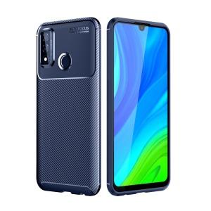 Θήκη Huawei P Smart (2020) OEM Beetle Series Carbon Fiber Πλάτη TPU μπλε