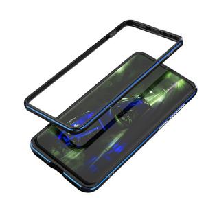 Premium μεταλλικό bumper για Huawei P40 Pro OEM και ειδικό κλείδωμα με βίδες μαύρο / μπλε