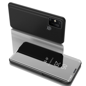 Θήκη Huawei Y6p OEM Mirror Surface View Stand Case Cover Flip Window μαύρο