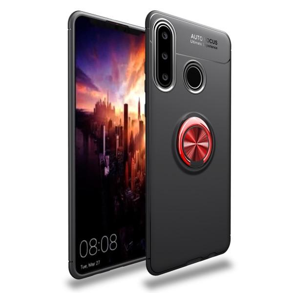 Θήκη Huawei Y6p OEM Magnetic Ring Kickstand / Μαγνητικό δαχτυλίδι / Βάση στήριξης TPU μαύρο / κόκκινο