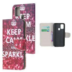 Θήκη Samsung Galaxy A21s OEM Keep Calm and Sparkle με βάση στήριξης