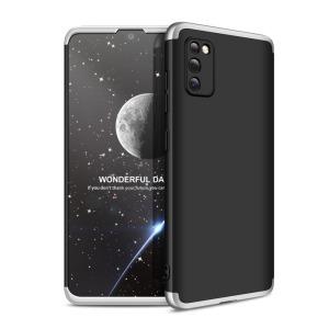 Θήκη GKK Full body Protection 360° από σκληρό πλαστικό για Samsung Galaxy A41 μαύρο / ασημί
