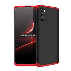 Θήκη GKK Full body Protection 360° από σκληρό πλαστικό για Samsung Galaxy A41 μαύρο / κόκκινο