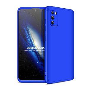 Θήκη GKK Full body Protection 360° από σκληρό πλαστικό για Samsung Galaxy A41 μπλε