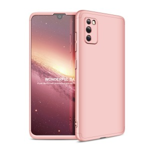 Θήκη GKK Full body Protection 360° από σκληρό πλαστικό για Samsung Galaxy A41 ροζ χρυσό