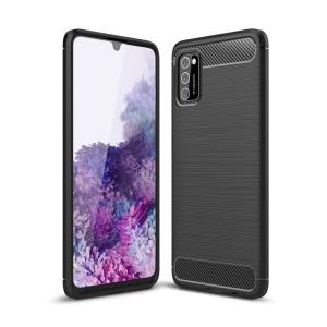 Θήκη Samsung Galaxy A41 OEM Brushed TPU Carbon Πλάτη μαύρο