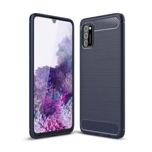 Θήκη Samsung Galaxy A41 OEM Brushed TPU Carbon Πλάτη μπλε