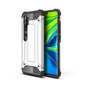 Θήκη Xiaomi Mi Note 10 Lite OEM Armor Guard Hybrid Πλάτη από σκληρό πλαστικό και TPU ασημί