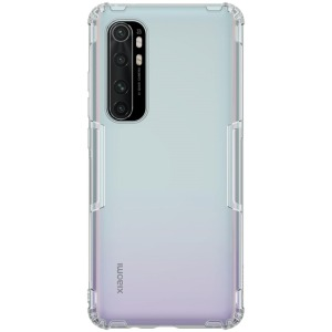 Θήκη Xiaomi Mi Note 10 Lite NiLLkin Nature Series 0.6mm Πλάτη TPU γκρι / διάφανο