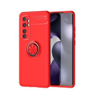 Θήκη Xiaomi Mi Note 10 Lite LENUO Magnetic Ring Kickstand / Μαγνητικό δαχτυλίδι / Βάση στήριξης TPU κόκκινο