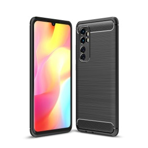Θήκη Xiaomi Mi Note 10 Lite OEM Brushed TPU Carbon Πλάτη μαύρο