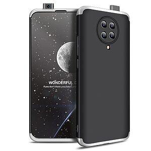 Θήκη GKK Full body Protection 360° από σκληρό πλαστικό για Xiaomi Poco F2 Pro μαύρο / ασημί