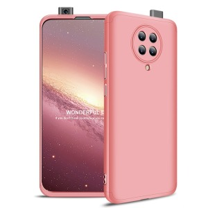 Θήκη GKK Full body Protection 360° από σκληρό πλαστικό για Xiaomi Poco F2 Pro ροζ χρυσό