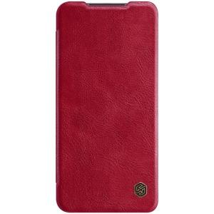 Θήκη Xiaomi Redmi Note 9 NiLLkin Qin Series με υποδοχή για κάρτες Flip Wallet από σκληρό πλαστικό και συνθετικό δέρμα κόκκινο