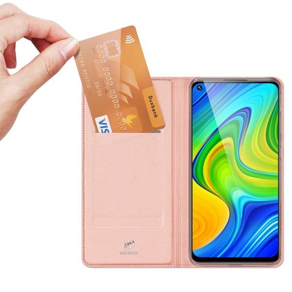 υποδοχή καρτών και μαγνητικό κούμπωμα Flip Wallet από συνθετικό δέρμα και TPU ροζ χρυσό