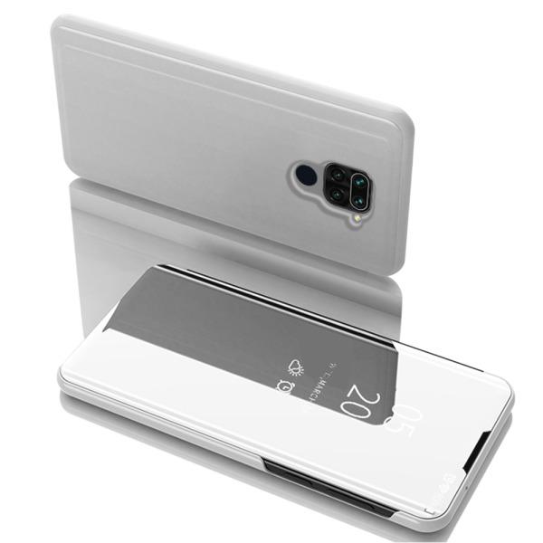 Θήκη Xiaomi Redmi Note 9 OEM Mirror Surface View Stand Case Cover Flip Window ασημί