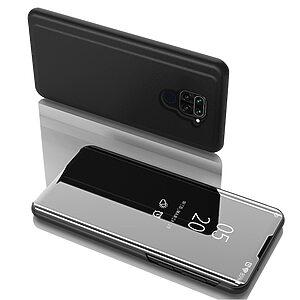 Θήκη Xiaomi Redmi Note 9 OEM Mirror Surface View Stand Case Cover Flip Window μαύρο
