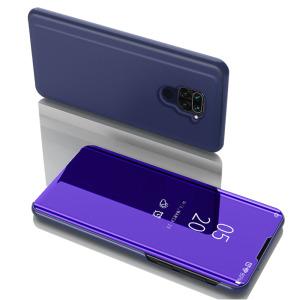 Θήκη Xiaomi Redmi Note 9 OEM Mirror Surface View Stand Case Cover Flip Window μπλε