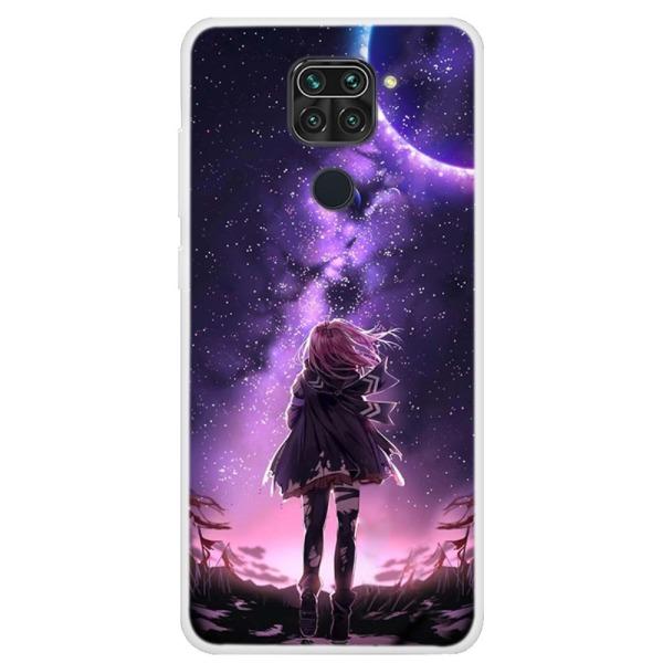 Θήκη Xiaomi Redmi Note 9 OEM σχέδιο Moonlight Girl πλάτη TPU