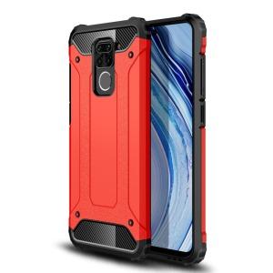Θήκη Xiaomi Redmi Note 9 OEM Armor Guard Hybrid Πλάτη από σκληρό πλαστικό και TPU κόκκινο