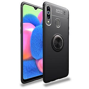 Θήκη Samsung Galaxy A20s LENUO Magnetic Ring Kickstand / Μαγνητικό δαχτυλίδι / Βάση στήριξης TPU μαύρο
