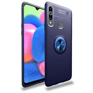 Θήκη Samsung Galaxy A20s LENUO Magnetic Ring Kickstand / Μαγνητικό δαχτυλίδι / Βάση στήριξης TPU μπλε