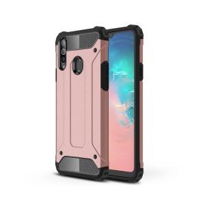 Θήκη Samsung Galaxy A20s OEM Armor Guard Hybrid Πλάτη από σκληρό πλαστικό και TPU ροζ χρυσό