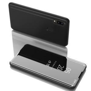 Θήκη Samsung Galaxy A31 OEM Mirror Surface Series Flip Window δερματίνη χρυσό μαύρο