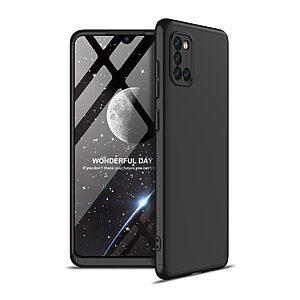 Θήκη GKK Full body Protection 360° από σκληρό πλαστικό για Samsung Galaxy A31 μαύρο