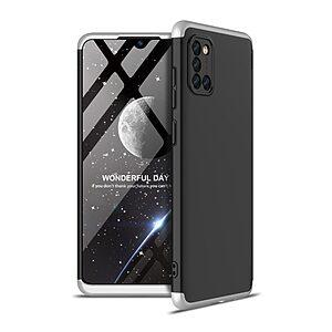 Θήκη GKK Full body Protection 360° από σκληρό πλαστικό για Samsung Galaxy A31 μαύρο / ασημί