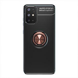 Θήκη Samsung Galaxy A31 OEM Magnetic Ring Kickstand / Μαγνητικό δαχτυλίδι / Βάση στήριξης TPU μαύρο / ροζ χρυσό