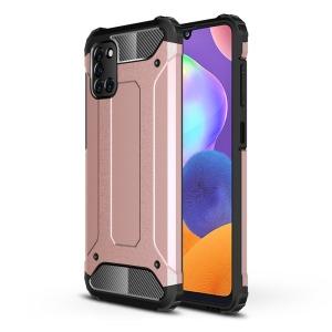 Θήκη Samsung Galaxy A31 OEM Armor Guard Hybrid Πλάτη από σκληρό πλαστικό και TPU ροζ χρυσό