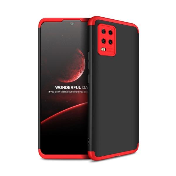 Θήκη GKK Full body Protection 360° από σκληρό πλαστικό για Xiaomi Mi 10 Lite μαύρο / κόκκινο