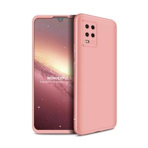 Θήκη GKK Full body Protection 360° από σκληρό πλαστικό για Xiaomi Mi 10 Lite ροζ χρυσό