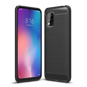 Θήκη Xiaomi Mi 10 Lite OEM Brushed TPU Carbon Πλάτη μαύρο