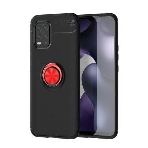 Θήκη Xiaomi Mi 10 Lite OEM Magnetic Ring Kickstand / Μαγνητικό δαχτυλίδι / Βάση στήριξης TPU μαύρο / κόκκινο