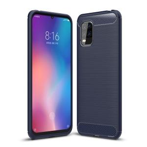 Θήκη Xiaomi Mi 10 Lite OEM Brushed TPU Carbon Πλάτη μπλε