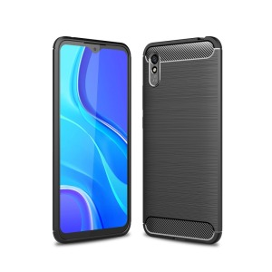 Θήκη Xiaomi Redmi 9A OEM Brushed TPU Carbon Πλάτη μαύρο