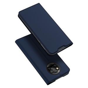 Θήκη Xiaomi Poco X3 NFC DUX DUCIS Skin Pro Series με βάση στήριξης, υποδοχή καρτών και μαγνητικό κούμπωμα Flip Wallet από συνθετικό δέρμα και TPU μπλε