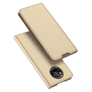 Θήκη Xiaomi Poco X3 NFC DUX DUCIS Skin Pro Series με βάση στήριξης, υποδοχή καρτών και μαγνητικό κούμπωμα Flip Wallet από συνθετικό δέρμα και TPU χρυσό
