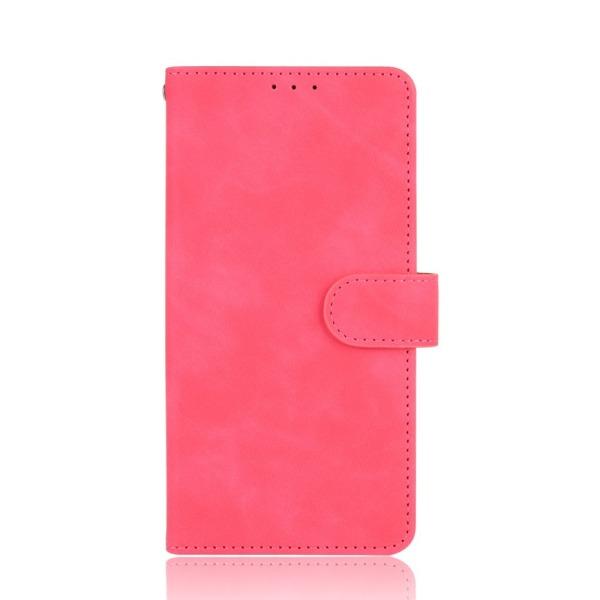 υποδοχές καρτών και μαγνητικό κούμπωμα Flip Wallet από συνθετικό δέρμα και TPU φούξια