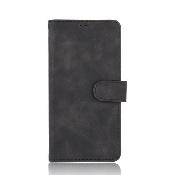υποδοχές καρτών και μαγνητικό κούμπωμα Flip Wallet από συνθετικό δέρμα και TPU μαύρο