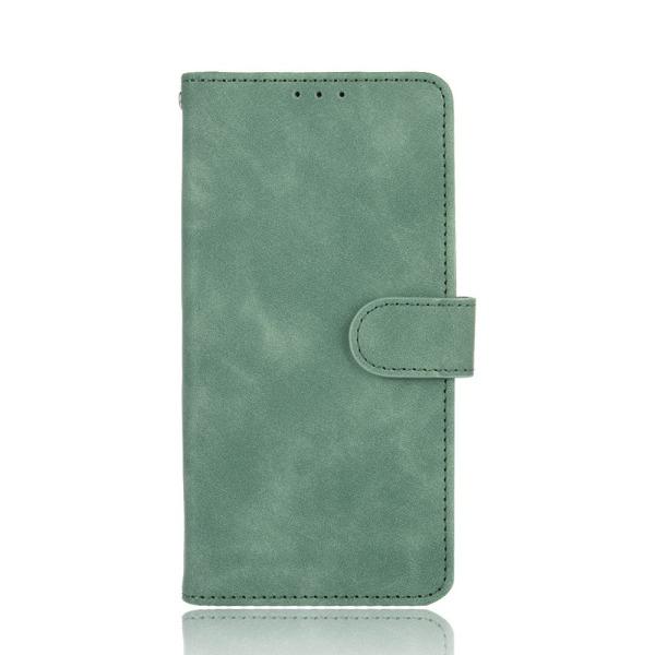 υποδοχές καρτών και μαγνητικό κούμπωμα Flip Wallet από συνθετικό δέρμα και TPU πράσινο