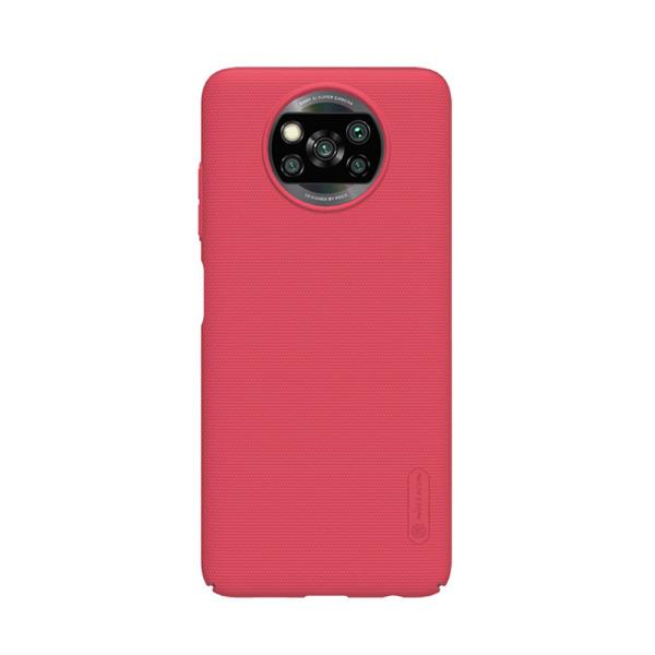 Θήκη Xiaomi Poco X3 NFC NiLLkin Super Frosted Shield Series Πλάτη από Premium σκληρό πλαστικό κόκκινο