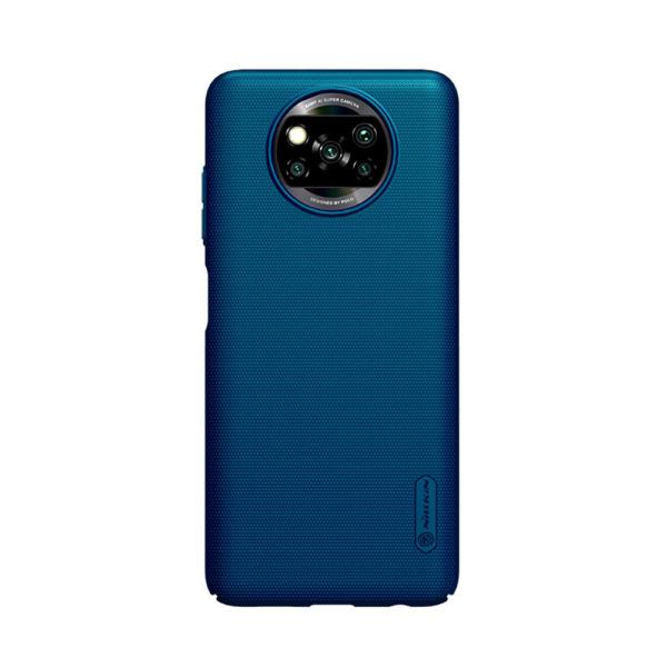 Θήκη Xiaomi Poco X3 NFC NiLLkin Super Frosted Shield Series Πλάτη από Premium σκληρό πλαστικό μπλε