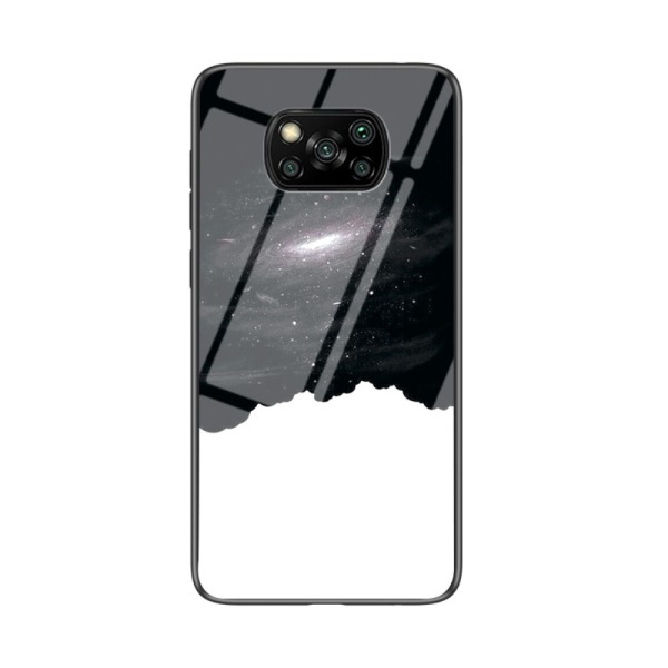 Θήκη Xiaomi Poco X3 NFC OEM σχέδιο Cosmic Sky με πλάτη από Tempered Glass και εσωτερικό TPU