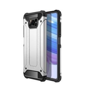 Θήκη Xiaomi Poco X3 NFC OEM Armor Guard Hybrid Πλάτη από σκληρό πλαστικό και TPU ασημί