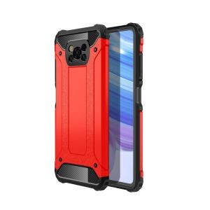 Θήκη Xiaomi Poco X3 NFC OEM Armor Guard Hybrid Πλάτη από σκληρό πλαστικό και TPU κόκκινο
