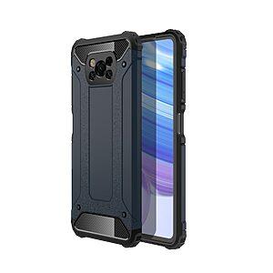 Θήκη Xiaomi Poco X3 NFC OEM Armor Guard Hybrid Πλάτη από σκληρό πλαστικό και TPU μπλε σκούρο